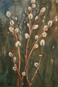 "Pussy Willow 2 22"" x 15"""